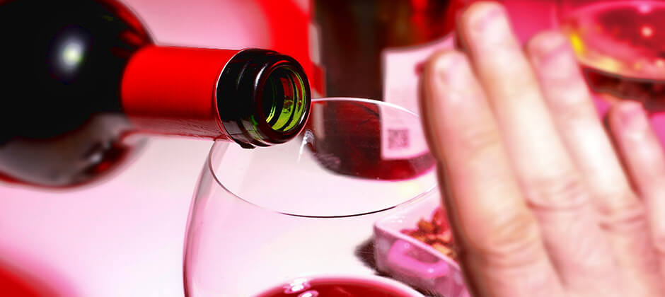 wine hand